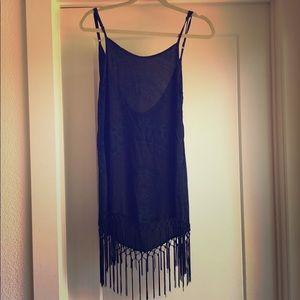 Cleobella black fringe dress XS